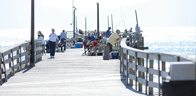 The Avon Pier - fishing fun for the whole family.
