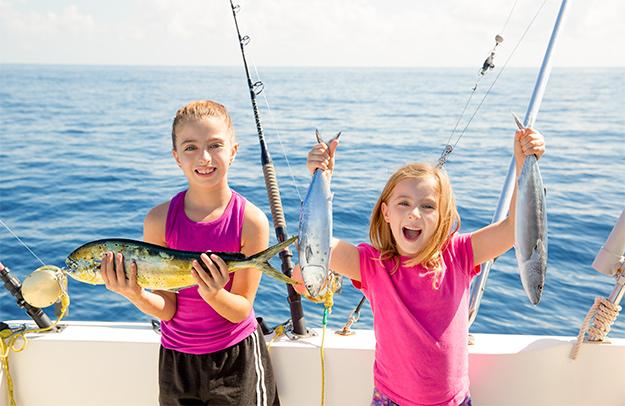boating girls